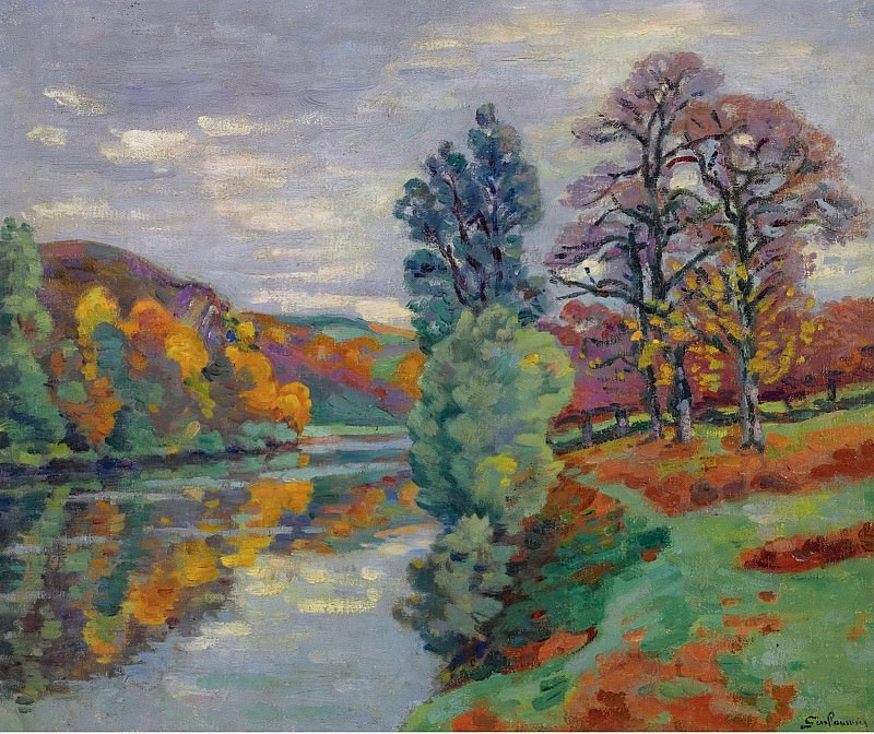 Armand Guillaumin - The Echo Rock, Crozant, 1913. Sotheby's