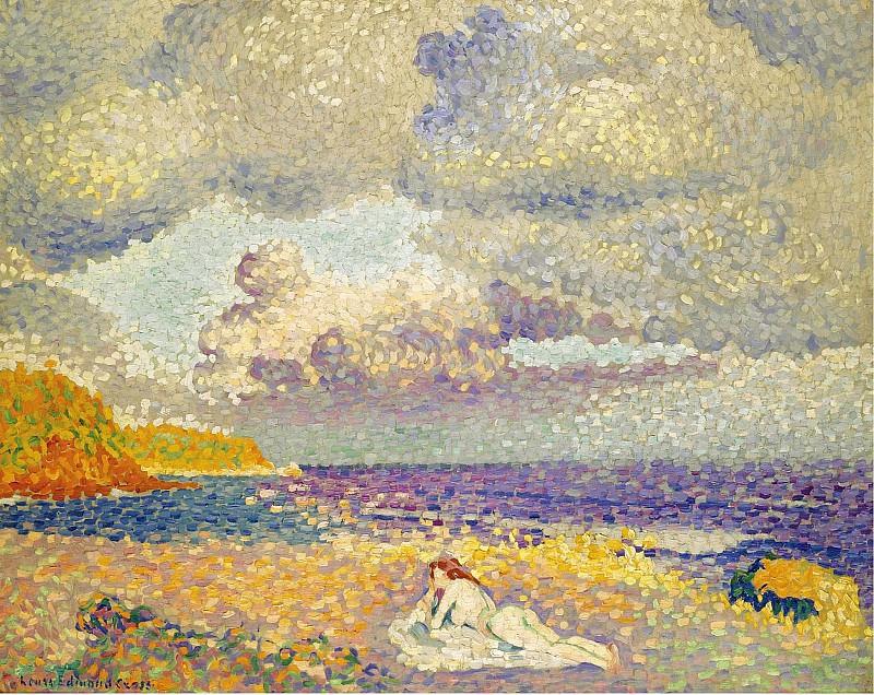 Henri Edmond Cross - Before the Storm (The Bather), 1907-08. Sotheby's