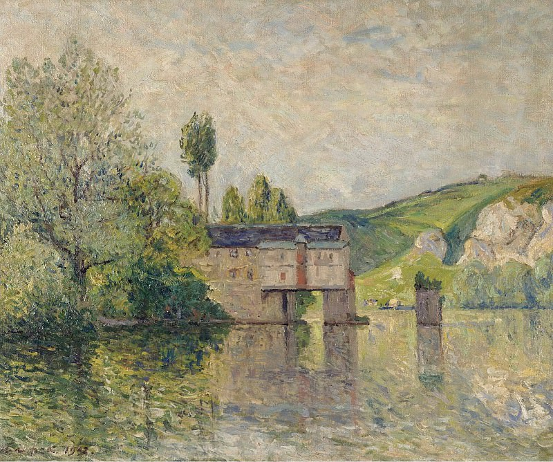 Maxime Maufra - The Watermill, Les Andelys, 1902. Картины с аукционов Sotheby's