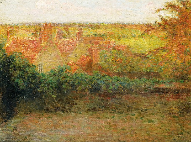 Henri Le Sidaner - The Terrace, Sun, Gerberoy, 1901. Картины с аукционов Sotheby's