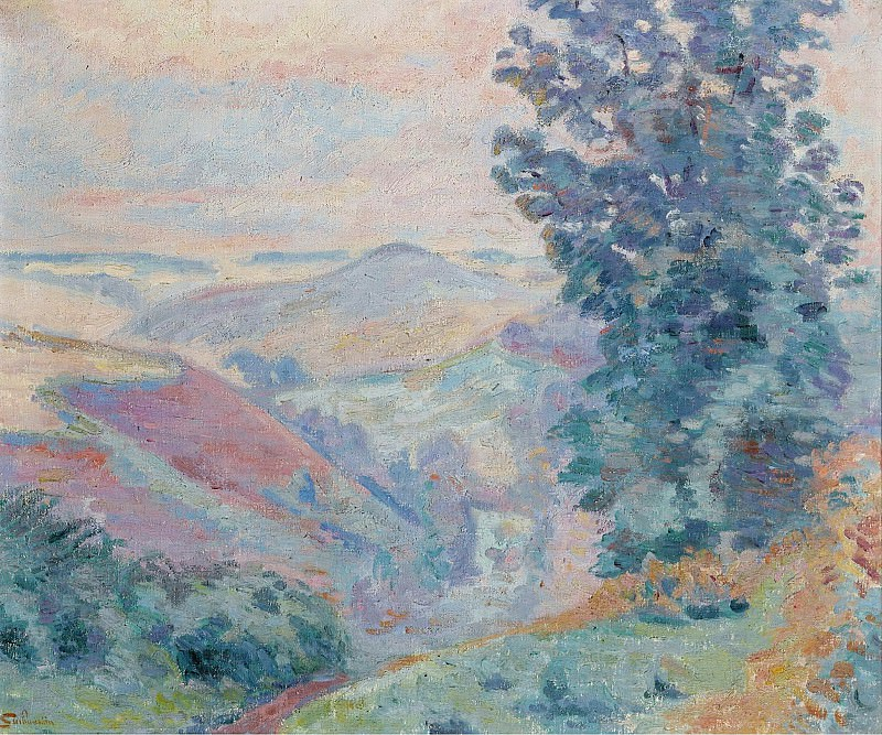 Armand Guillaumin - Le Puy Bariou, 1918. Картины с аукционов Sotheby's