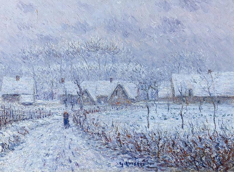 Gustave Loiseau - Wind with Snow, 24 March 1899, Saint-Cyr-du-Vaudreuil, 1899. Картины с аукционов Sotheby's