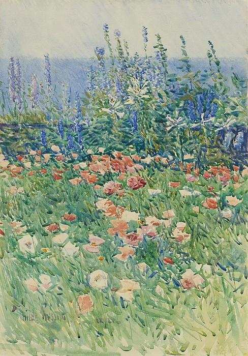 Frederick Childe Hassam - Flower Garden, Isles of Shoals, 1893. Sotheby's