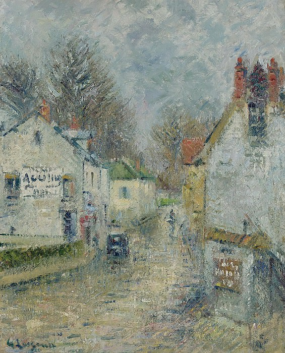 Gustave Loiseau - Street of Pontoise, 1914. Sotheby's