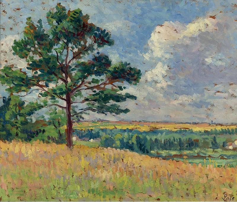 Maximilien Luce - Landscape near Mereville, 1905. Sotheby's