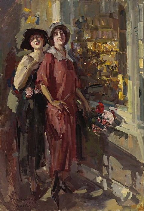 Constantin Korovin - At the Window, 1923. Sotheby's