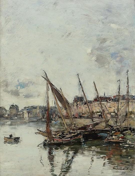 Eugene Boudin - The Port of Trouvill, Marine Basin, 1894. Sotheby's