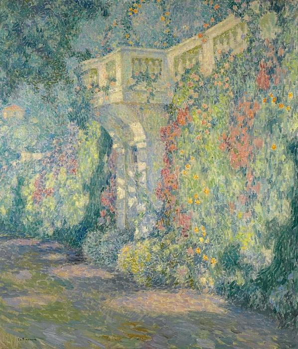 Henri Le Sidaner - The Balustrade, Gates to the Terrace, 1924. Картины с аукционов Sotheby's
