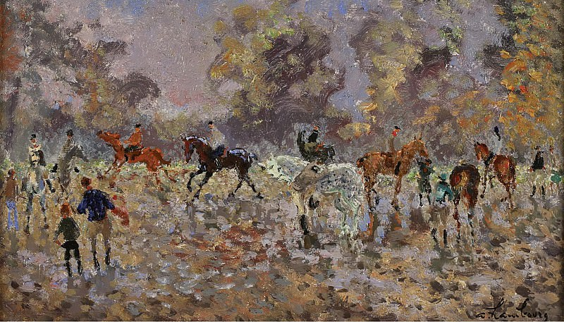 Andre Hambourg - Full Gallop, October 6. Sotheby's