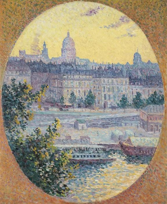 Maximilien Luce - Montebello Quay and Sainte-Genevieve Hill, Paris, 1901. Sotheby's