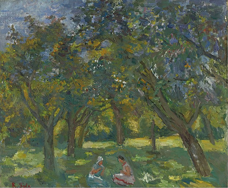 Robert Falk - Two Women Sitting Among the Trees, 1930s. Sotheby's