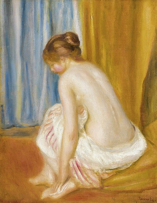 Pierre Auguste Renoir - Bather, 1893. Sotheby's
