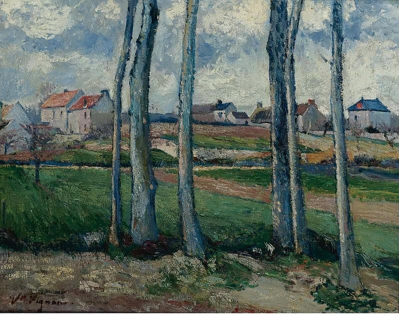 Victor Vignon - The Village behind the Trees. Картины с аукционов Sotheby's