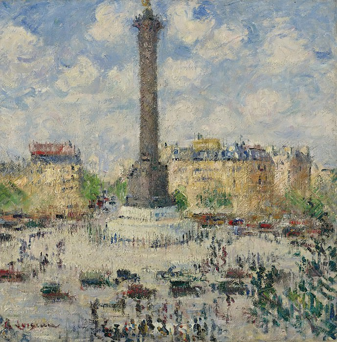 Gustave Loiseau - The Square of Bastille, 1927. Sotheby's