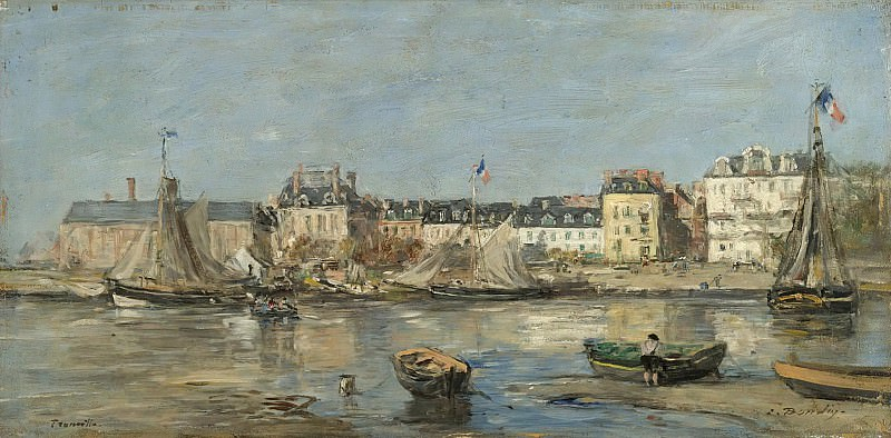 Eugene Boudin - Trouvillle, the Port, 1880-85. Sotheby's
