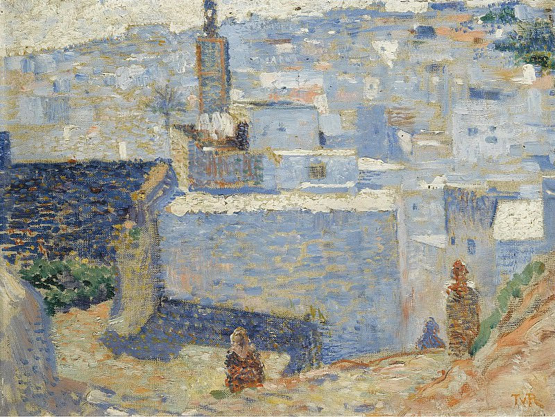 Theo van Rysselberghe - Town in Marocco, 1888. Sotheby's