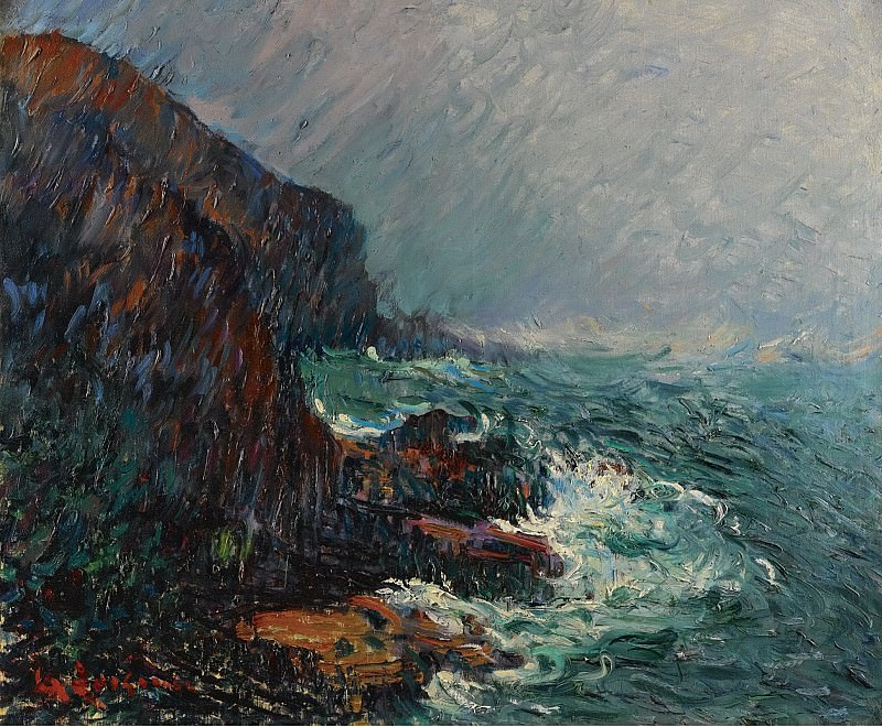 Gustave Loiseau - The Cliffs in Normandie. Sotheby's