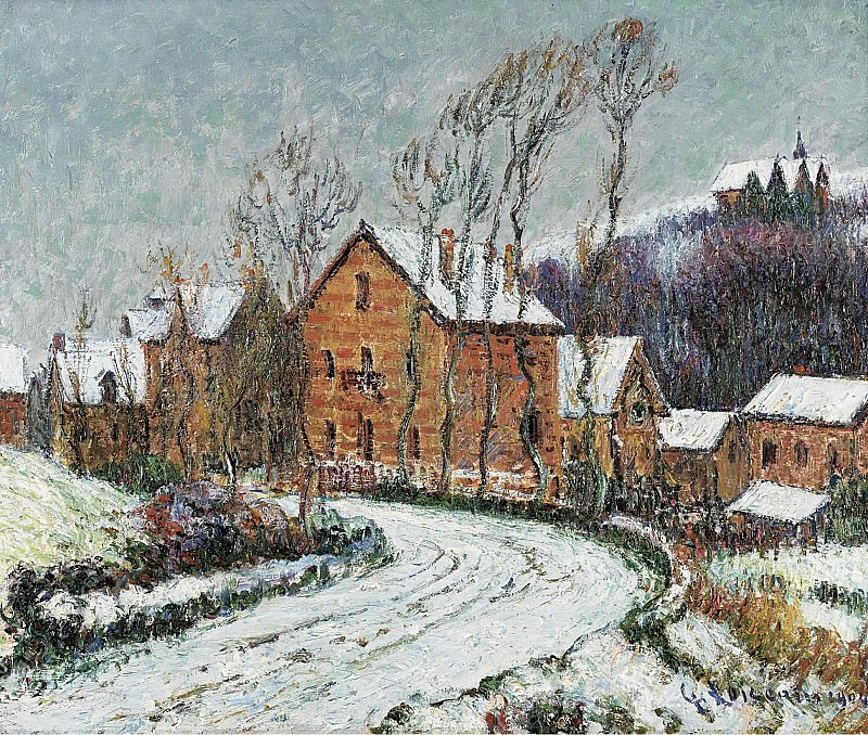 Gustave Loiseau - The Snow at Puys near Dieppe, 1904. Sotheby's