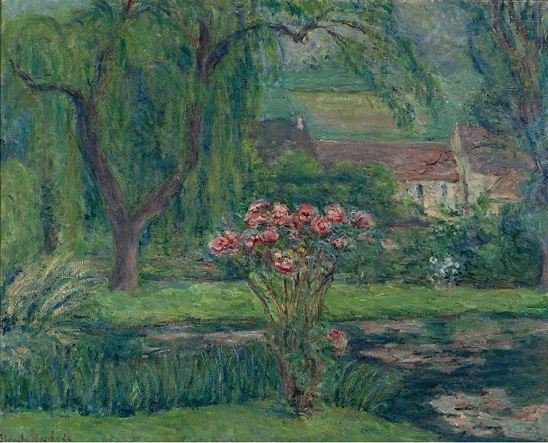 Blanche Hoschede-Monet - Giverny, Roses and Waterlilies. Sotheby's