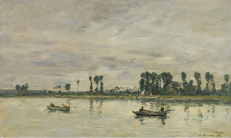 Eugene Boudin - Caudebec-en-Caux, the Banks of the Seine, 1892. Sotheby's