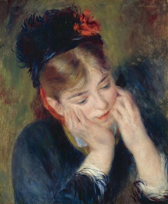 Pierre Auguste Renoir - Reflexion, 1877. Sotheby's