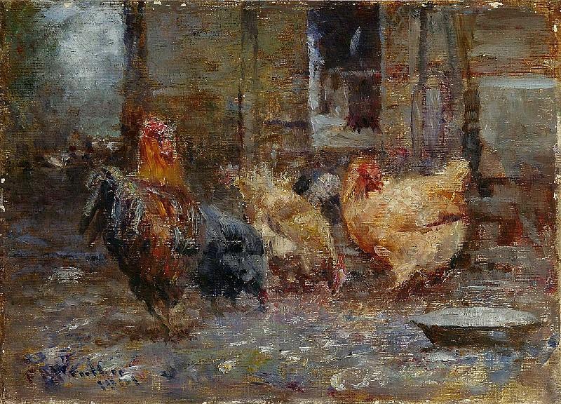 Frederick McCubbin - Chickens, 1901. Sotheby's