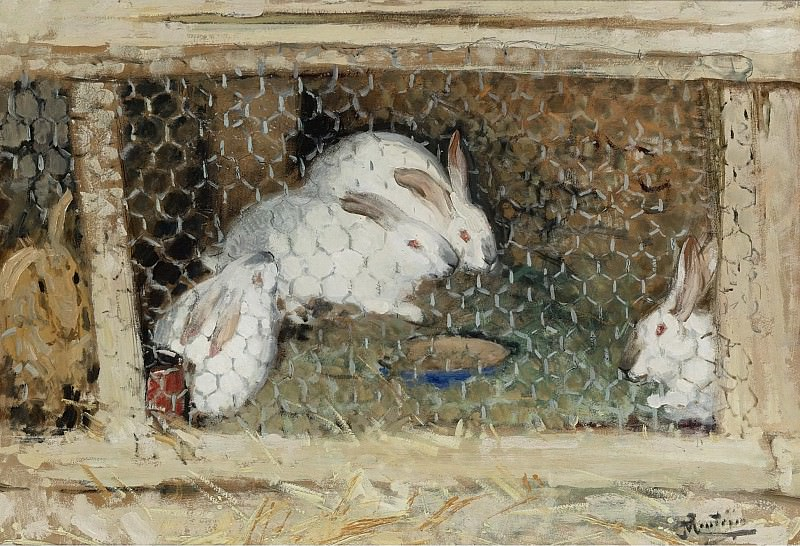 Pierre-Eugene Montezin - The Rabbits. Sotheby's