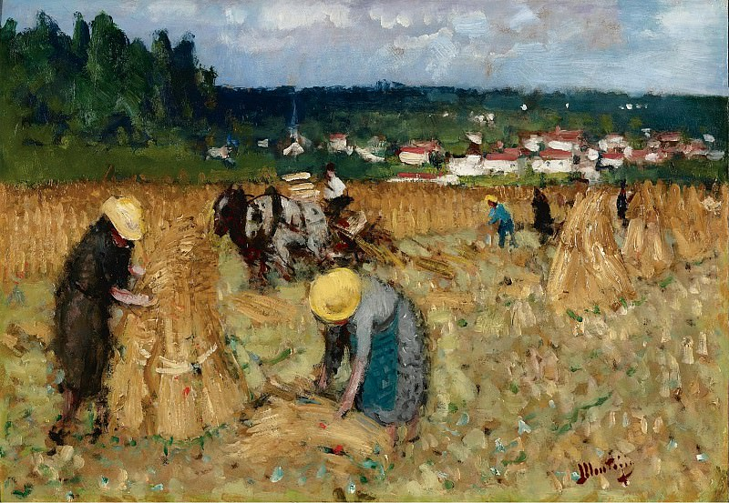 Pierre-Eugene Montezin - The Harvest at By. Sotheby's