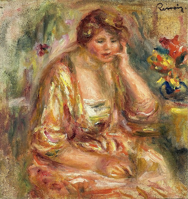 Pierre Auguste Renoir - Andree in a Pink Dress, 1917. Sotheby's