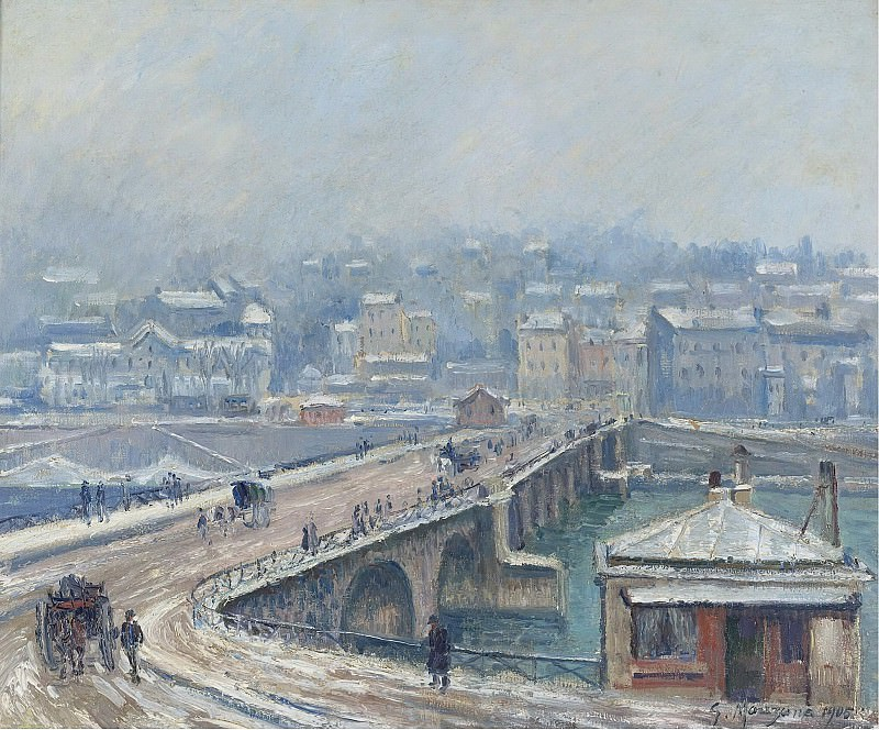 Georges Manzana-Pissarro - The Bridge of Saint-Cloud under the Snow, 1905. Sotheby's