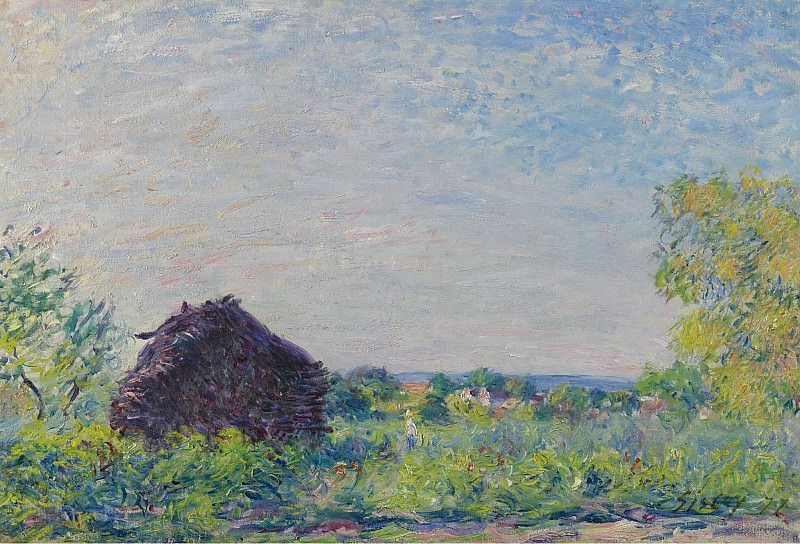 Alfred Sisley - Landscape with the Stack of Firewood, 1877. Sotheby's