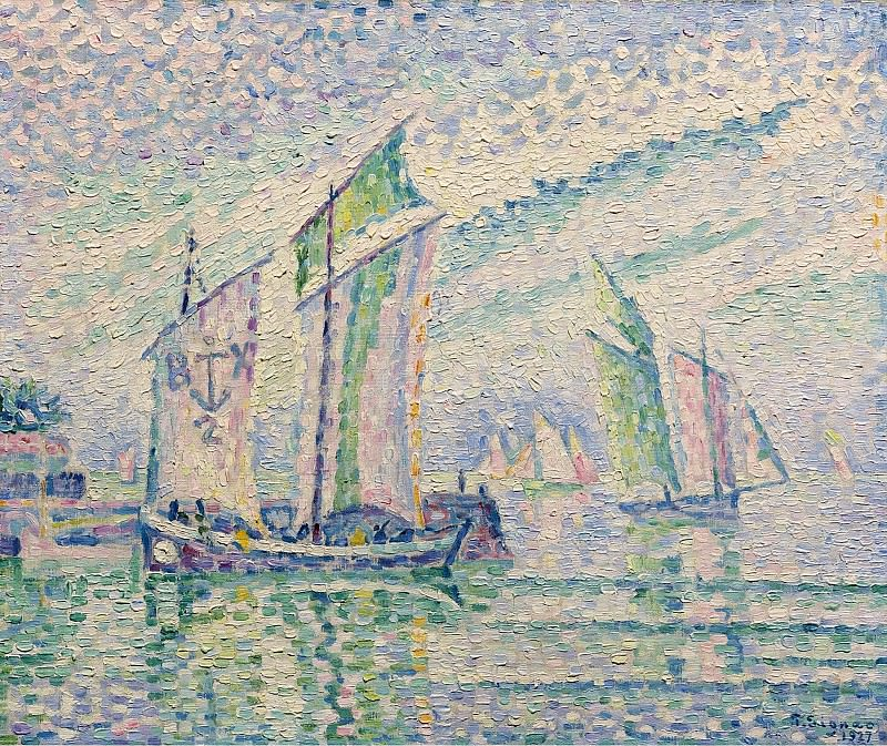 Paul Signac - The Channel of La Roshelle, 1927. Картины с аукционов Sotheby's