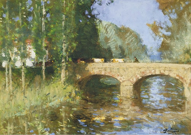 Pierre-Eugene Montezin - Bridge upon the River. Sotheby's
