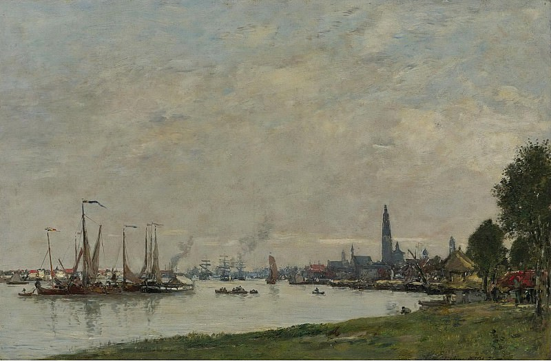 Eugene Boudin - Anvers, the Port, View to the North Citadel, 1971. Картины с аукционов Sotheby's