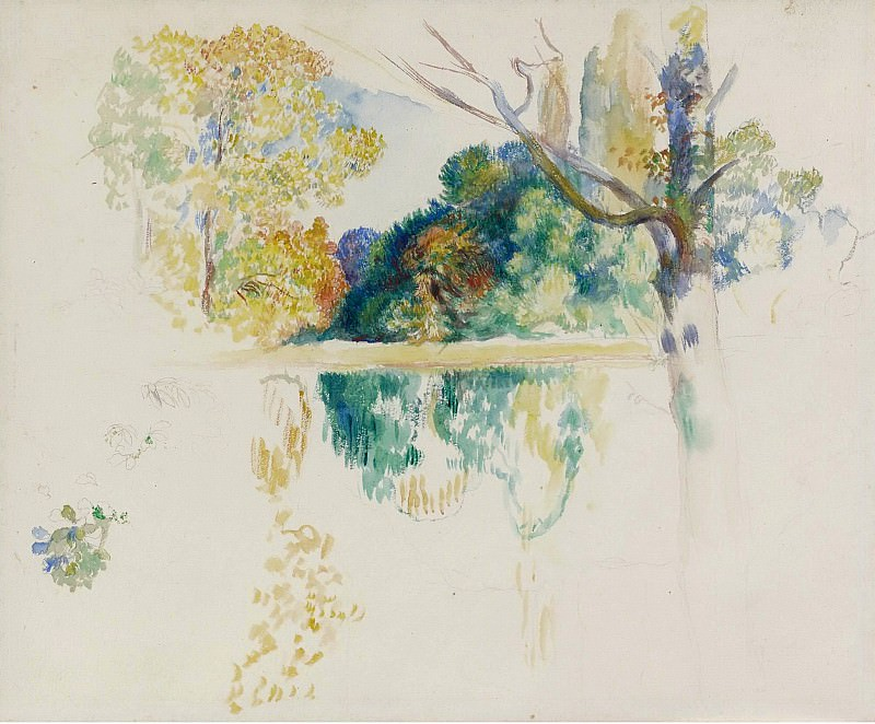 Pierre Auguste Renoir - The Lake (sketch). Sotheby's