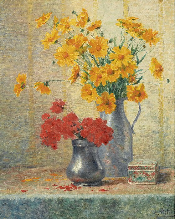 Evert Pieters - Vase of Flowers. Sotheby's