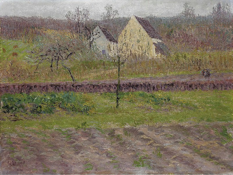 Gustave Loiseau - Orchard in Autumn, 1898. Sotheby's