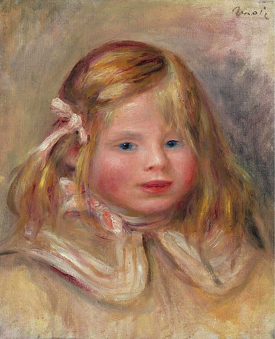Pierre Auguste Renoir - Coco with Pink Ribbon, 1905. Sotheby's