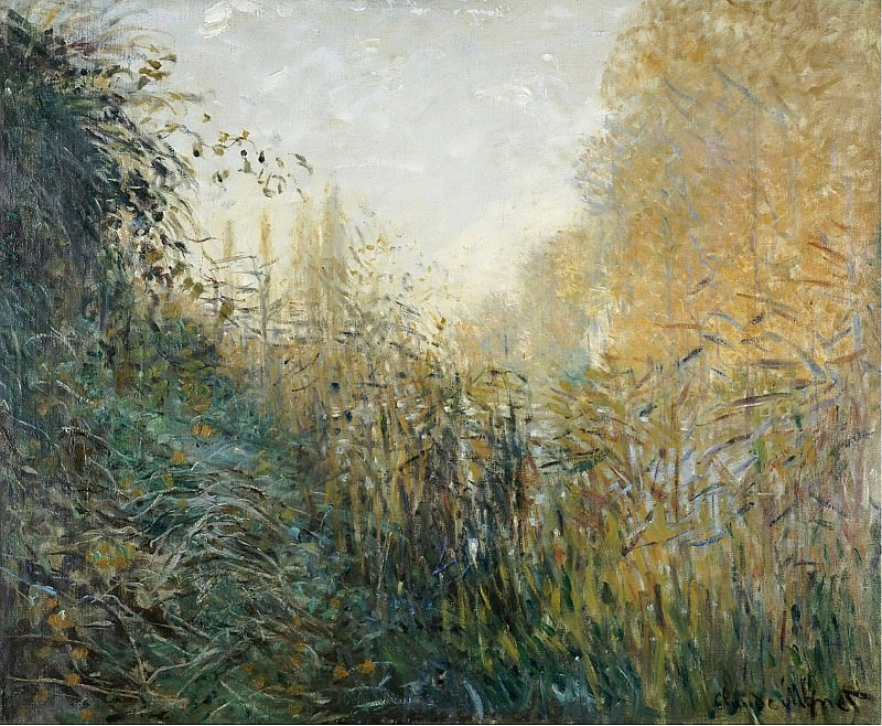 Claude Monet - The Reeds (study). Sotheby's