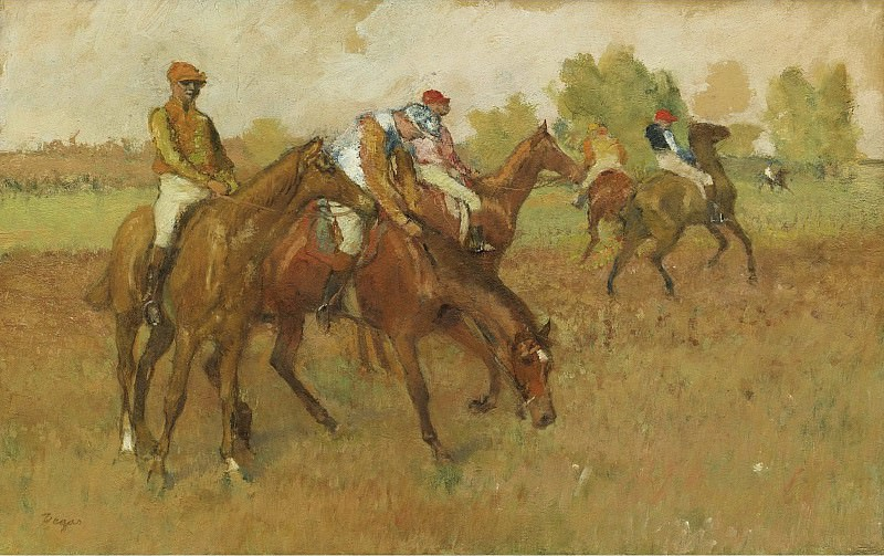 Edgar Degas - Before the Race, 1882-88. Sotheby's