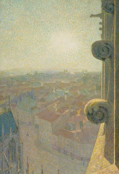 Michel Auguste Colle - Nancy, View of the Cathedral, Saint-Eprve (by the Sun), 1907. Картины с аукционов Sotheby's