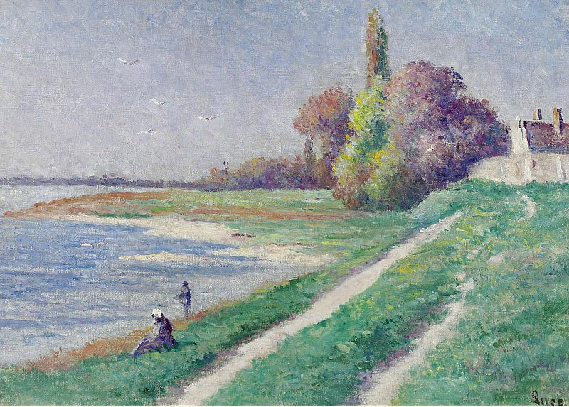 Maximilien Luce - The Estuary of Trieux 02. Sotheby's