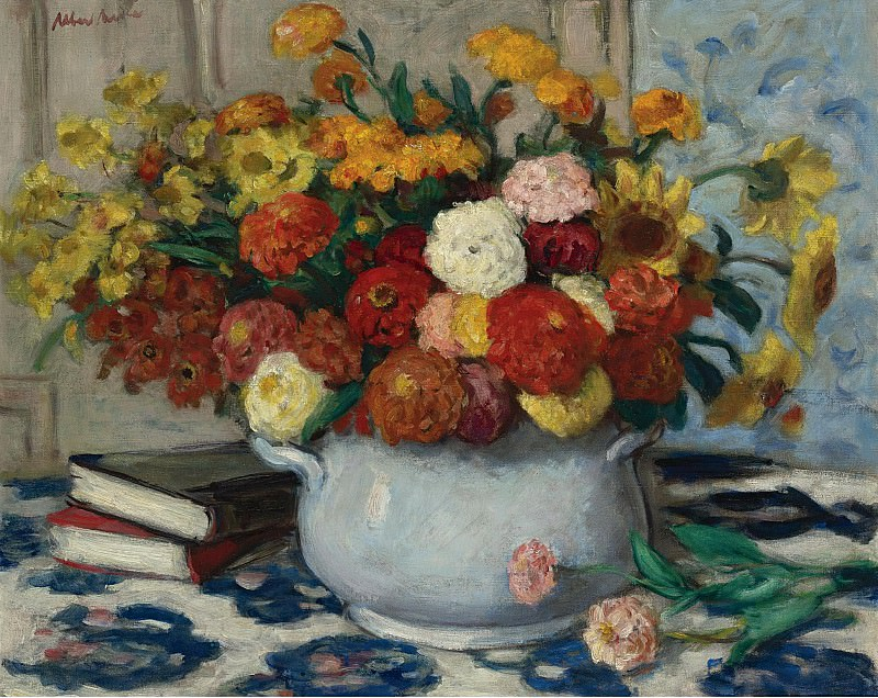 Albert Andre - Vase of Flowers. Sotheby's