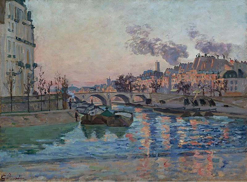 Armand Guillaumin - Paris, the Bridge of Marie, 1882. Картины с аукционов Sotheby's