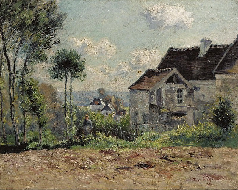 Victor Vignon - The Farm. Картины с аукционов Sotheby's