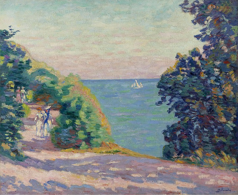 Armand Guillaumin - August Evening at Saint-Palais, 1909. Sotheby's