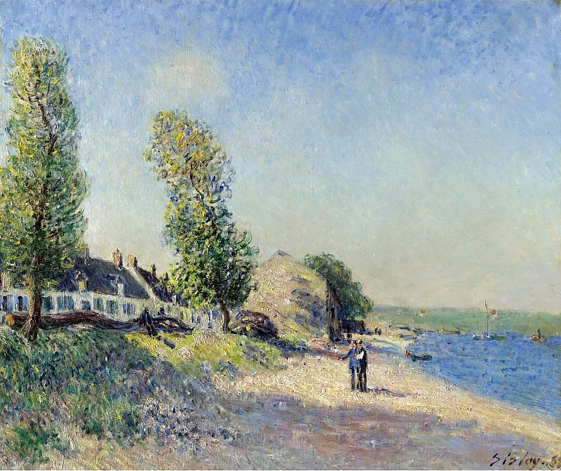 Alfred Sisley - Saint-Mammes at Morning, 1885. Sotheby's