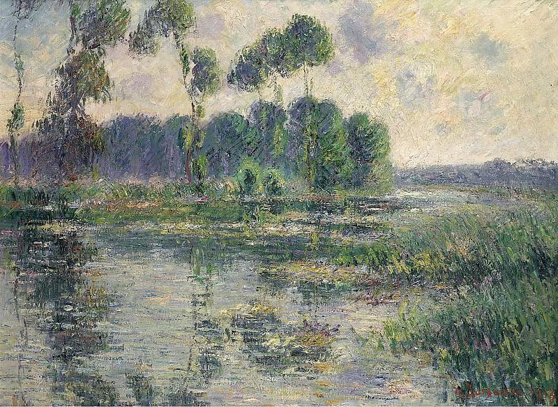 Gustave Loiseau - The Banks of the Eure, Saint-Cyr-du-Vaudreuil, 1913. Sotheby's