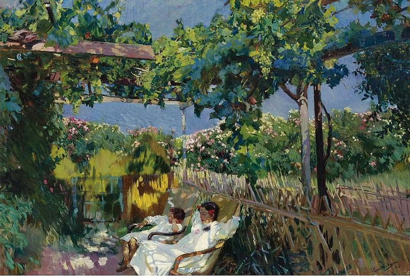 Joaquin Sorolla y Bastida - Siesta in the Garden, 1904. Sotheby's