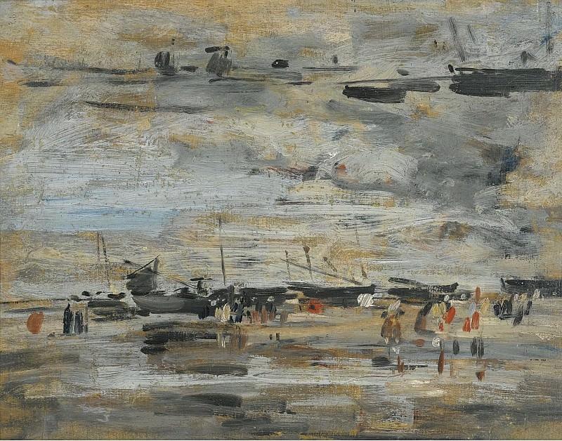 Eugene Boudin - Low-Tide, 1888-95. Sotheby's